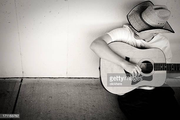 Jouer de la guitare Cowboy avec espace pour copie