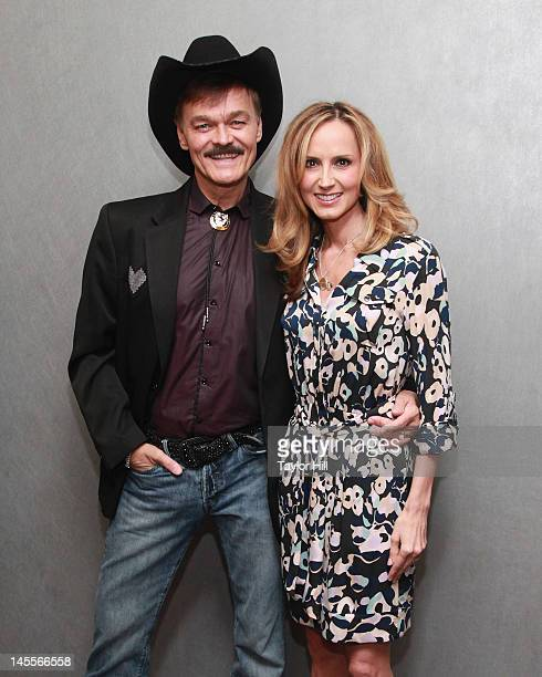 Cowboy Randy Jones of The Village People and Chely Wright attend the 'Chely Wright Wish Me Away' New York Screening at Quad Cinema on June 1 2012 in...