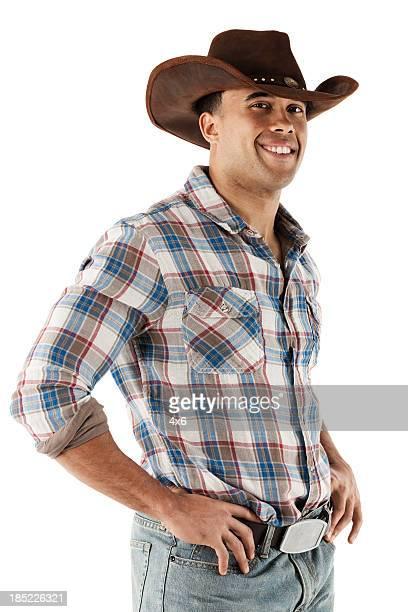 Cow-boy debout avec ses Poings sur les hanches