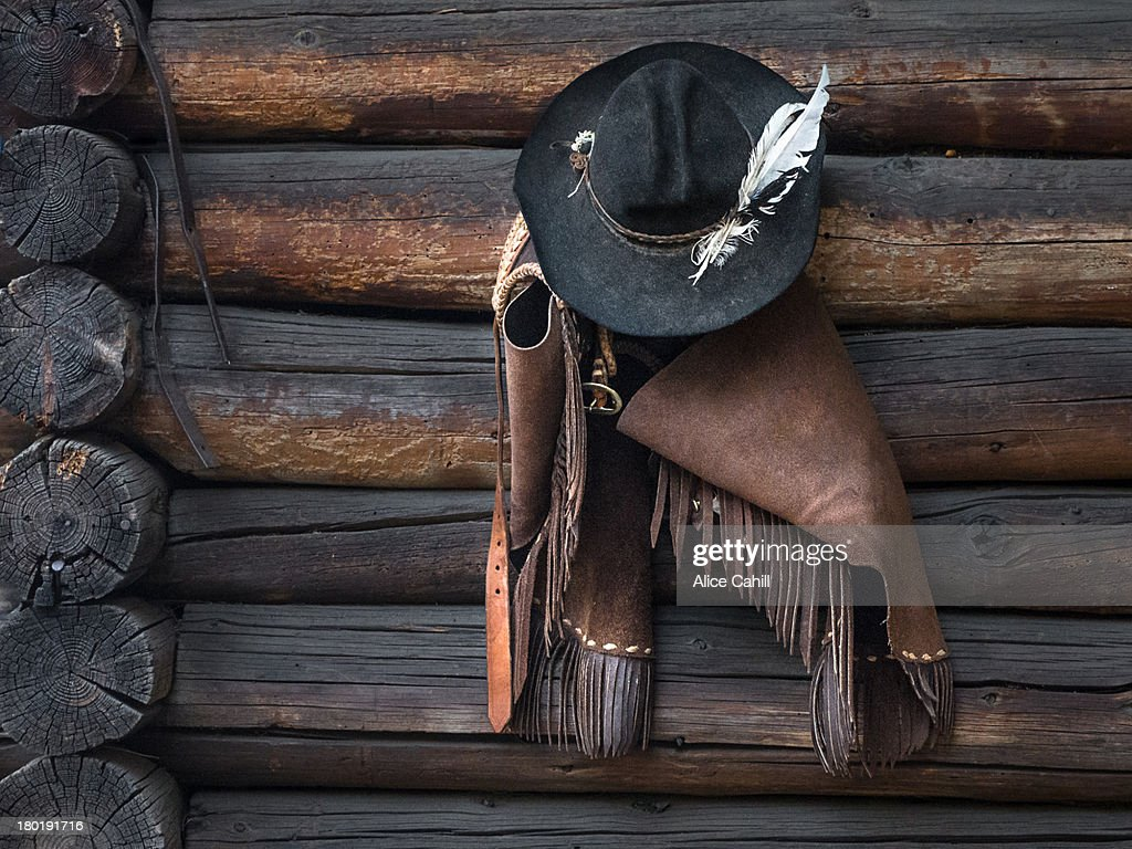 Cowboy still life with hat and chaps