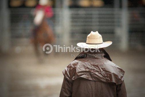 cowboy waiting : Stock Photo