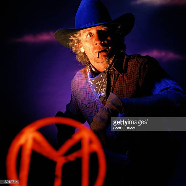 Cowboy with Branding Iron