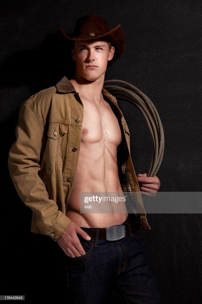 Cowboy with lasso : Stock Photo