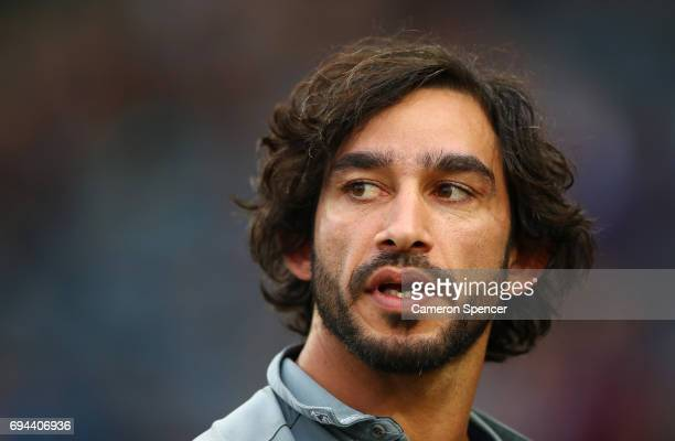 Cowboys captain Johnathan Thurston looks on prior to the round 14 NRL match between the Parramatta Eels and the North Queensland Cowboys at TIO...