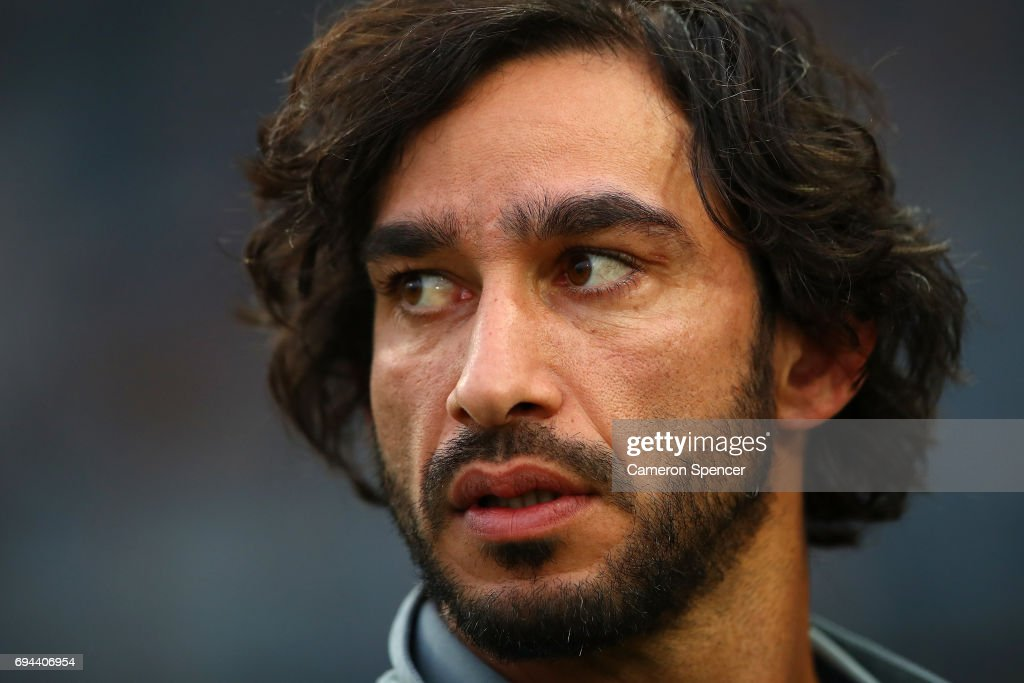 Cowboys captain Johnathan Thurston looks on prior to the round 14 NRL match between the Parramatta Eels and the North Queensland Cowboys at TIO Stadium on June 10, 2017 in Darwin, Australia.