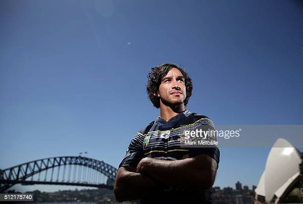 Cowboys captain Johnathan Thurston poses during the 2016 NRL Season Launch at Sydney Botanical Gardens on February 25 2016 in Sydney Australia