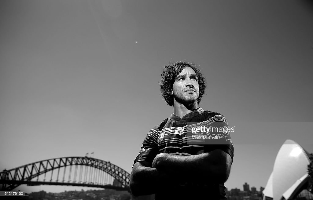 Cowboys captain Johnathan Thurston poses during the 2016 NRL Season Launch at Sydney Botanical Gardens on February 25, 2016 in Sydney, Australia.