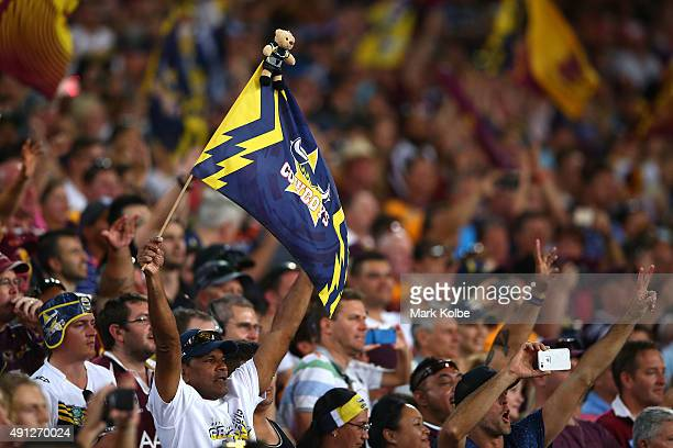 Cowboys fan shows his support during the 2015 NRL Grand Final match between the Brisbane Broncos and the North Queensland Cowboys at ANZ Stadium on...