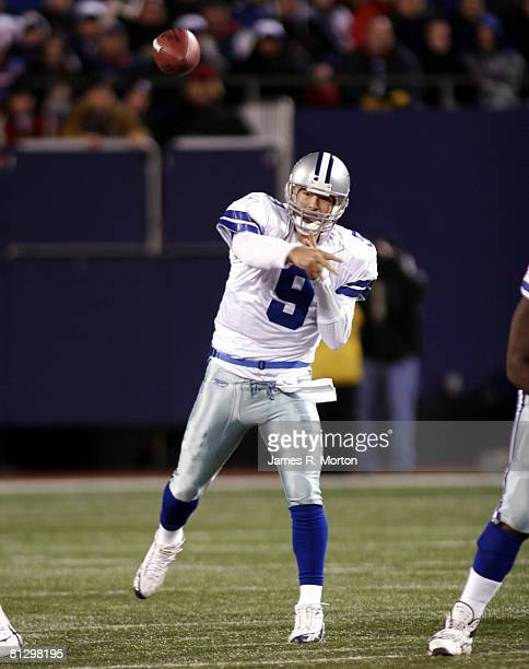 Cowboy's Quarterback Tony Romo in action as the New York Giants lose to the Dallas Cowboys by the score of 23 to 20 at the Meadowlands in East...