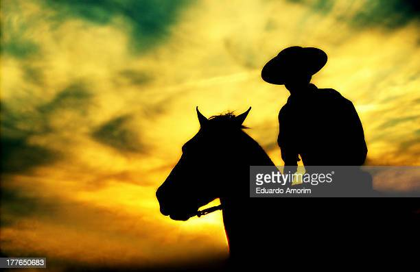 Cowboy's silhouette