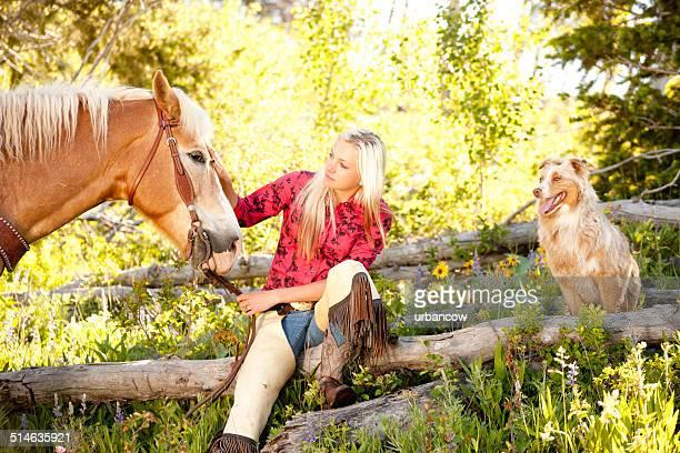Cowgirl und Ihr Hund, Montana