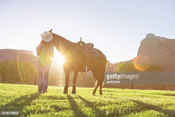 Vaqueira e Cavalo