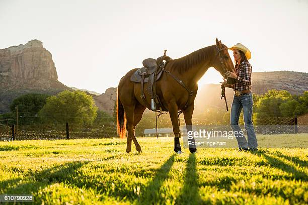 Cowgirl and Horse