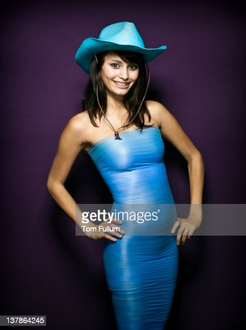 Cowgirl in blue.