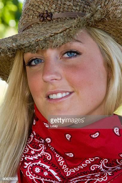 Roten Cowgirl-bandana