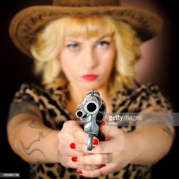 Cowgirl with a gun