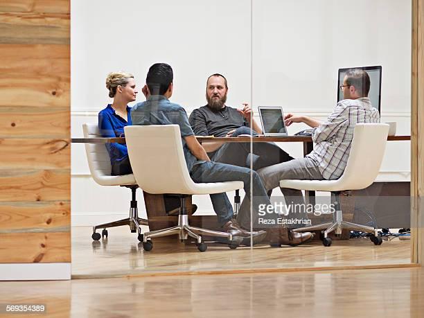 Coworkers brainstorm