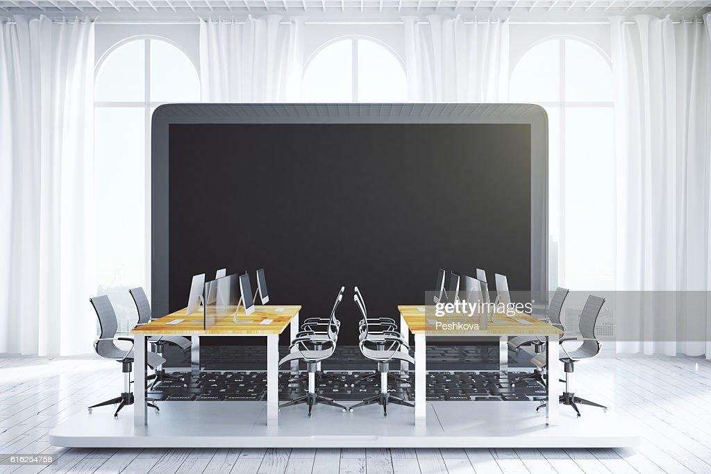 Coworking office on laptop : Foto de stock