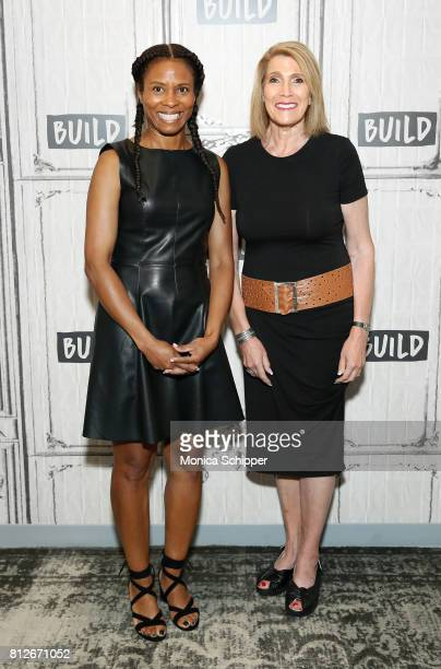 Cowriter and producer Luchina Fisher and writer and director Civia Tamarkin discuss their new film 'Birthright A War Story' at Build Studio on July...
