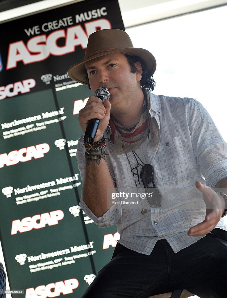 Co-writer <a gi-track='captionPersonalityLinkClicked' href=/galleries/search?phrase=Kevin+Rudolf&family=editorial&specificpeople=5639684 ng-click='$event.stopPropagation()'>Kevin Rudolf</a> are honored as BMI & ASCAP Celebrates the No.1 Song 'Little Bit Of Everything' at Aerial In Nashville on October 7, 2013 in Nashville, United States.