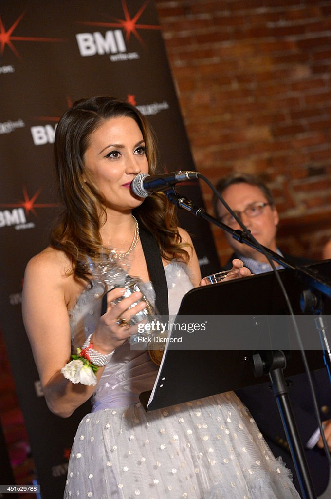 Co-writer Natalie Hemby attends the 'Automatic' No. 1 party on June 30, 2014 in Nashville, Tennessee.