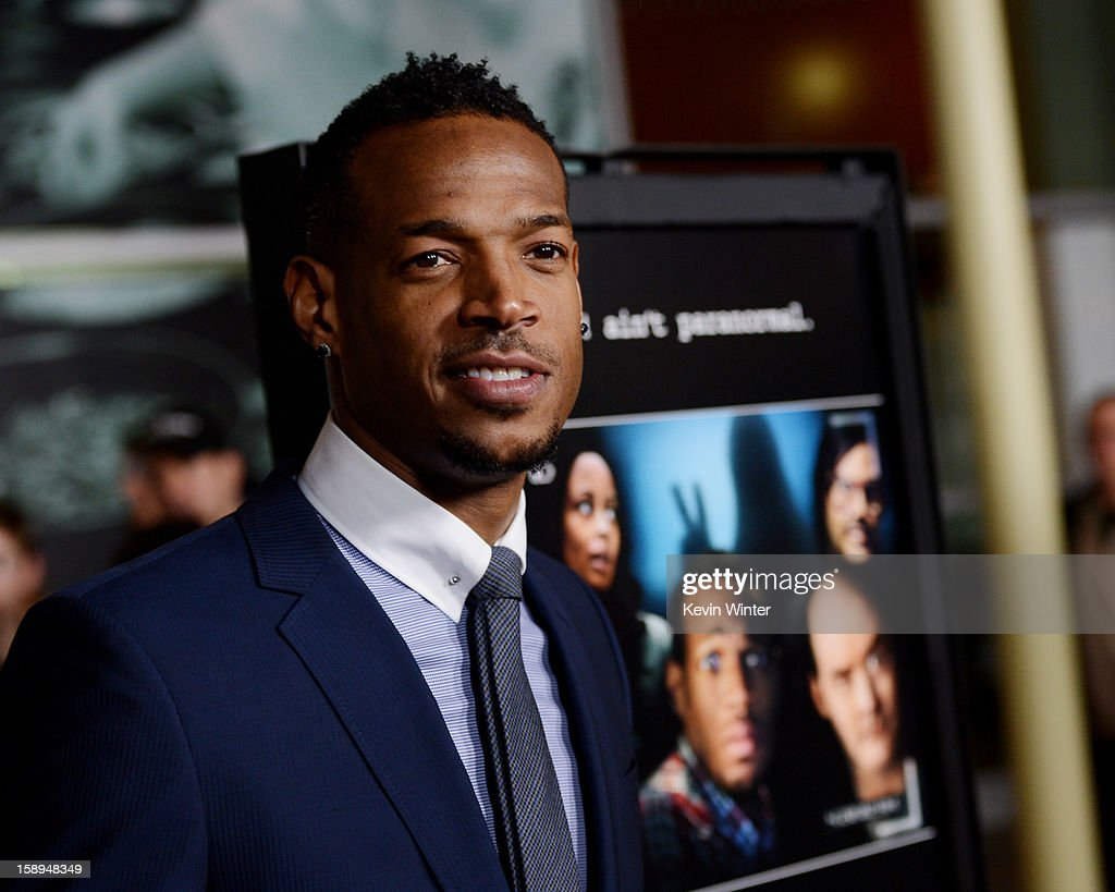Co-writer/producer/actor Marlon Wayans arrives at the premiere of Open Road Films' 'A Haunted House' at the Arclight Theatre on January 3, 2013 in Los Angeles, California.