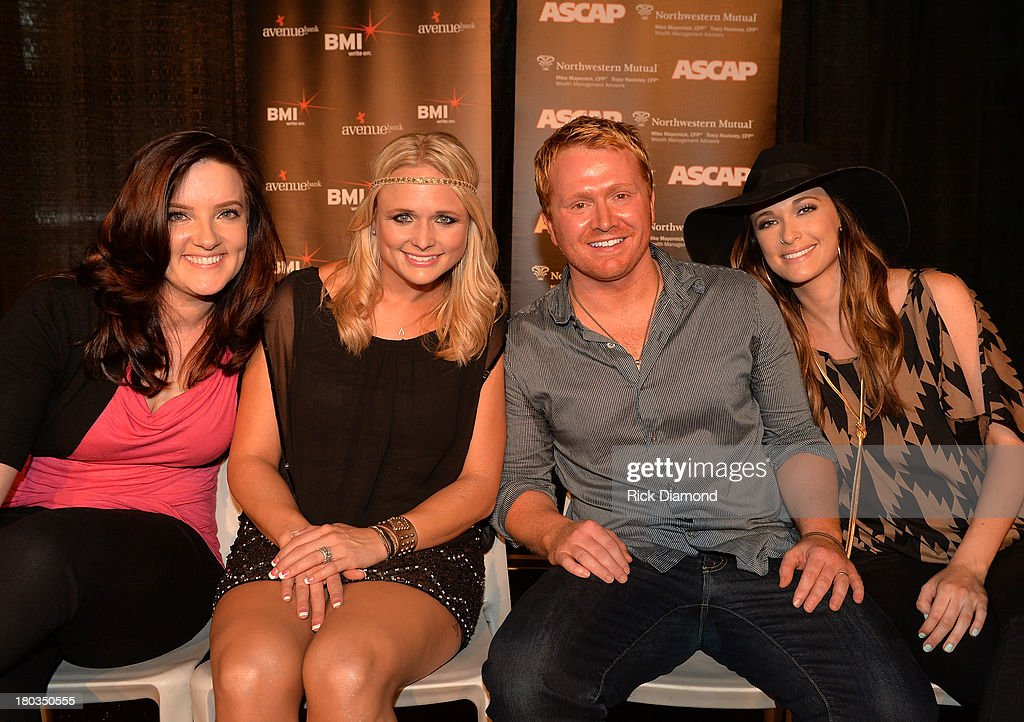 Co-writers Brandy Clark, <a gi-track='captionPersonalityLinkClicked' href=/galleries/search?phrase=Miranda+Lambert&family=editorial&specificpeople=571972 ng-click='$event.stopPropagation()'>Miranda Lambert</a>, Shane McAnally and Kacey Musgraves join in to Celebrate there No.1 Song 'Mama's Broken Heart' with co writers Kacey Musgraves, Brandy Clark and Shane McAnally performed by <a gi-track='captionPersonalityLinkClicked' href=/galleries/search?phrase=Miranda+Lambert&family=editorial&specificpeople=571972 ng-click='$event.stopPropagation()'>Miranda Lambert</a> at Cabana on September 11, 2013 in Nashville, Tennessee.