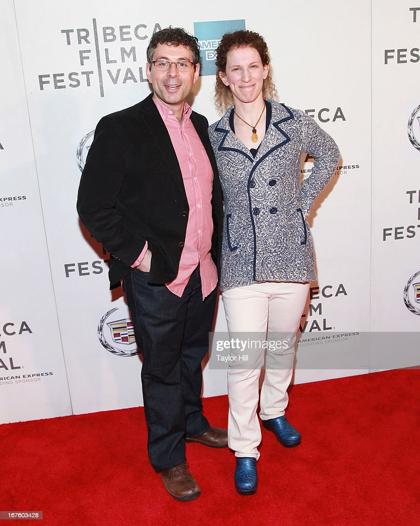 Co-writers Dan Chariton and Stacy Chariton attend the screening of 'The English Teacher' during the 2013 Tribeca Film Festival at BMCC Tribeca PAC on April 26, 2013 in New York City.