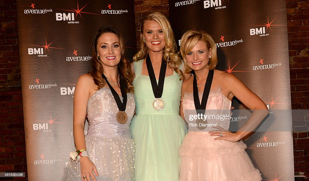Co-writers Natalie Hemby and Nicolle Galyon celebrate with Miranda Lambert at the 'Automatic' No. 1 party on June 30, 2014 in Nashville, Tennessee.