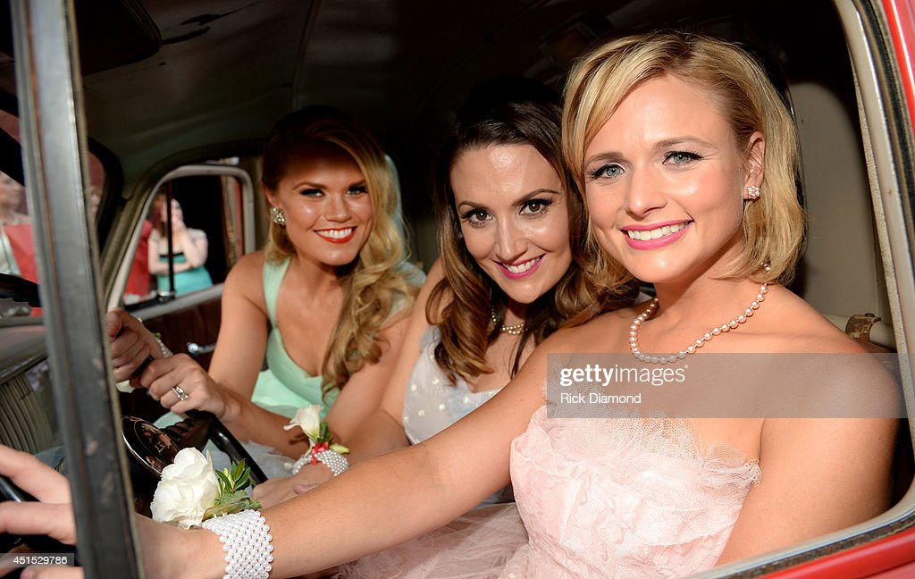 Co-writers Nicolle Galyon and Natalie Hemby and Miranda Lambert attend the 'Automatic' No. 1 party on June 30, 2014 in Nashville, Tennessee.