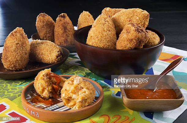 Coxinhas with a spicy pepper marinade