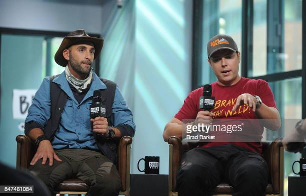 Coyote Peterson and Mark Laivins attend Build Presents Coyote Peterson Mark Laivins Discussing 'Coyote Peterson's Brave Adventures Wild Animals In A...