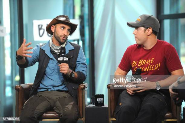 Coyote Peterson and Mark Laivins attend Build to discuss 'Coyote Peterson's Brave Adventures Wild Animals In A Wild World' at Build Studio on...