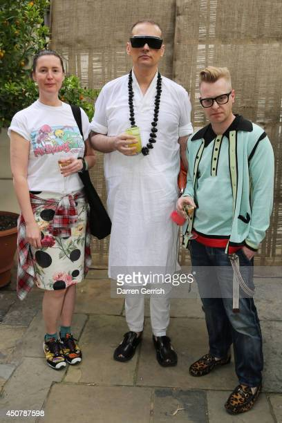Cozette McCreery Joe Bates and Sid Bryan attends the GQ and Dunhill party during the London Collections Men SS15 on June 17 2014 in London England