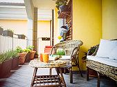 Cozy home' balcony