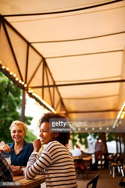 Cozy sidewalk cafe