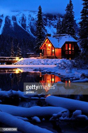 Cozy Winter Mountain Lodge