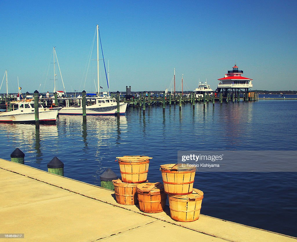 Crab Baskets at the Choptank River Lighthouse
