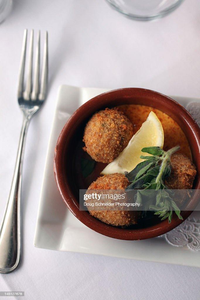 Crab Cakes : Stock Photo
