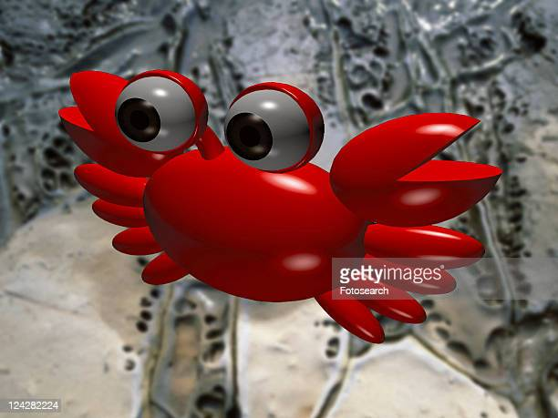 3D, crab, cartoon, cute, animal