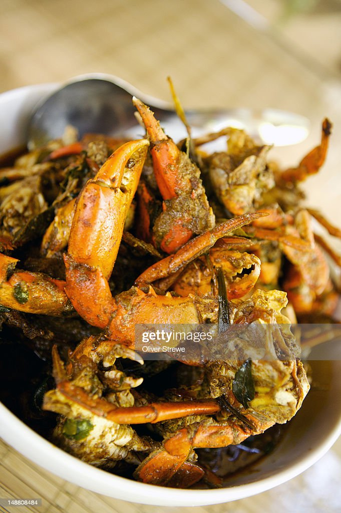 Crab curry from Hideaway restaurant, Arugam Bay.