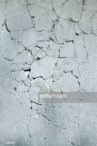 Crack in the wall,close up