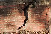 Cracked brickwall