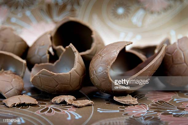 Cracked Chocolate Eggs