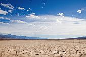 Cracked earth at Death Valley, California