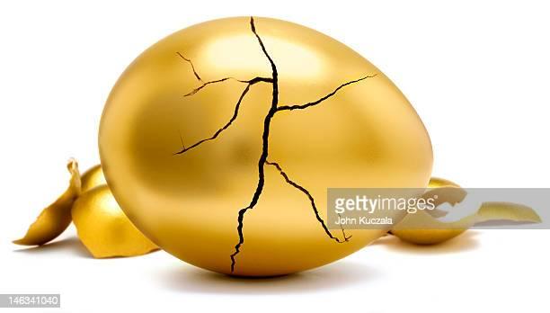 cracked golden egg