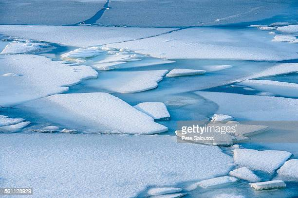 Cracked ice and snow, Reine, Norway