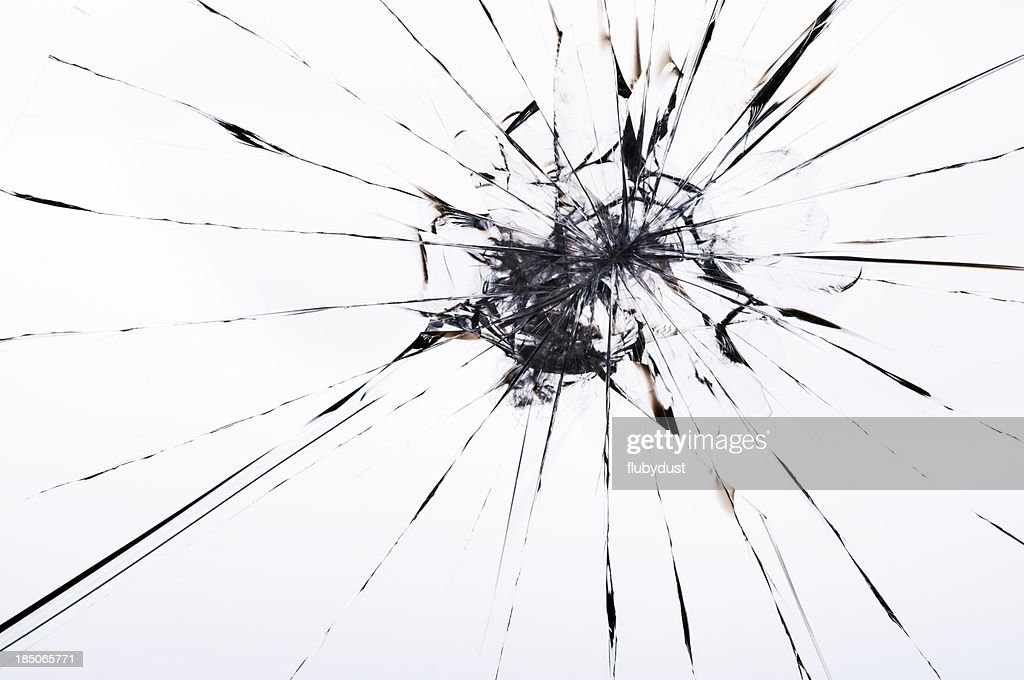 cracked laminated glass