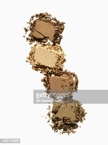 4 cracked powders 4 shades : Stock Photo