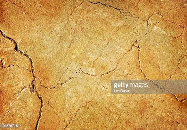 Cracked stone surface